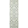 Linear Aqua/Ivory Area Rug