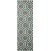 Linear Grey/Aqua Area Rug