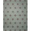 Linear Grey/Aqua Area Rug