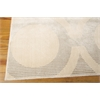 "Nourison Luminance Rectangle Rug  By Nourison, Cream Grey, 7'6"" X 10'6"""