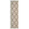 "Ma05 Glistening Nights Runner Rug By, Beige, 2'2"" X 7'6"""
