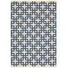 "Bbl3 Maze Rectangle Rug By, Indigo, 5'3"" X 7'5"""