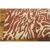 "Nourison Tahoe Modern Rectangle Rug  By Nourison, Rust Beige, 7'9"" X 9'9"""
