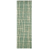 "Tahoe Modern Runner Rug By, Turquoise Green, 2'3"" X 8'"