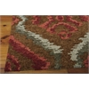 "Nourison Tahoe Modern Rectangle Rug  By Nourison, Brown Red, 7'9"" X 9'9"""