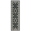 "Nourison Maymana Runner Rug  By Nourison, Charcoal, 2'2"" X 7'6"""