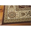 "Nourison Persian Crown Rectangle Rug  By Nourison, Brick, 7'10"" X 10'6"""