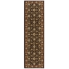 "Nourison Persian Crown Runner Rug  By Nourison, Dark Brown, 2'2"" X 7'6"""