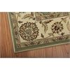 "Persian Crown Rectangle Rug By, Green, 5'3"" X 7'4"""