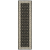 "Nourison Persian Empire Runner Rug  By Nourison, Black, 2'3"" X 8'"