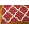 Portico Rectangle Rug By, Red, 5' X 7'6""