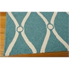 Nourison Portico Rectangle Rug  By Nourison, Aqua, 5' X 7'6""