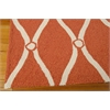 Portico Rectangle Rug By, Orange, 5' X 7'6""