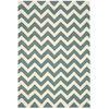 Portico Rectangle Rug By, Light Green, 5' X 7'6""