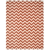 Portico Rectangle Rug By, Orange, 8' X 10'6""