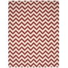 Portico Rectangle Rug By, Red, 8' X 10'6""
