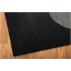 "Radiant Arts Rectangle Rug By, Onyx, 5'3"" X 7'5"""