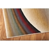"Radiant Arts Rectangle Rug By, Rainbow, 5'3"" X 7'5"""
