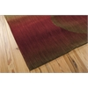 "Nourison Radiant Arts Rectangle Rug  By Nourison, Ruby, 5'3"" X 7'5"""