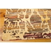 "Nourison Rhapsody Rectangle Rug  By Nourison, Sunrise, 7'9"" X 9'9"""