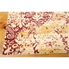 "Nourison Rhapsody Rectangle Rug  By Nourison, Gold Garnet, 7'9"" X 9'9"""