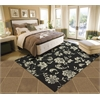 "Home & Garden Rectangle Rug By, Black, 5'3"" X 7'5"""