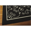 "Nourison Home & Garden Rectangle Rug  By Nourison, Black, 5'3"" X 7'5"""
