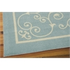 "Nourison Home & Garden Rectangle Rug  By Nourison, Light Blue, 5'3"" X 7'5"""