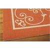 "Nourison Home & Garden Rectangle Rug  By Nourison, Orange, 5'3"" X 7'5"""