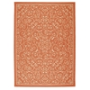 "Home & Garden Rectangle Rug By, Orange, 7'9"" X 10'10"""
