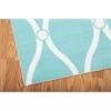 """Home & Garden Rectangle Rug By, Aqua, 5'3"""" X 7'5"""""""