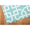 "Home & Garden Rectangle Rug By, Aqua, 5'3"" X 7'5"""