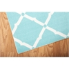 "Home & Garden Rectangle Rug By, Aqua, 7'9"" X 10'10"""