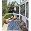 "Nourison Home & Garden Rectangle Rug  By Nourison, Navy, 5'3"" X 7'5"""