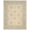 "Ki14 Royal Serenity Rectangle Rug By, Ivory Blue, 7'6"" X 9'6"""