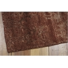 "Nourison Silk Shadows Runner Rug  By Nourison, Rust, 2'3"" X 8'"