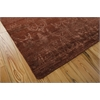 "Nourison Silk Shadows Rectangle Rug  By Nourison, Rust, 7'9"" X 9'9"""