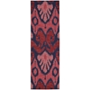 "Nourison Siam Runner Rug  By Nourison, Navy Red, 2'3"" X 7'6"""