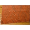 "Nourison Silk Infusion Rectangle Rug  By Nourison, Dark Rust, 7'9"" X 9'9"""