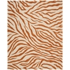 "Skyland Rectangle Rug By, Ivory Rust, 7'6"" X 9'6"""