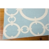 "Nourison Wav01 Sun & Shade Rectangle Rug  By Nourison, Aquamarine, 5'3"" X 7'5"""