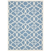 "Nourison Wav01 Sun & Shade Rectangle Rug  By Nourison, Azure, 5'3"" X 7'5"""