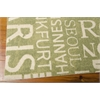 "Wav01 Sun & Shade Rectangle Rug By, Wasabi, 5'3"" X 7'5"""