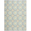 "Nourison Wav01 Sun & Shade Rectangle Rug  By Nourison, Jade, 7'9"" X 10'10"""