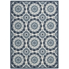 "Wav01 Sun & Shade Rectangle Rug By, Navy, 5'3"" X 7'5"""