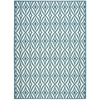 "Nourison Wav01 Sun & Shade Rectangle Rug  By Nourison, Azure, 7'9"" X 10'10"""