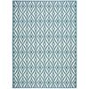 "Wav01 Sun & Shade Rectangle Rug By, Azure, 7'9"" X 10'10"""
