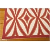 "Nourison Wav01 Sun & Shade Rectangle Rug  By Nourison, Campari, 5'3"" X 7'5"""