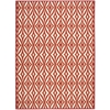 "Nourison Wav01 Sun & Shade Rectangle Rug  By Nourison, Campari, 7'9"" X 10'10"""