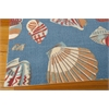 "Wav01 Sun & Shade Rectangle Rug By, Azure, 5'3"" X 7'5"""